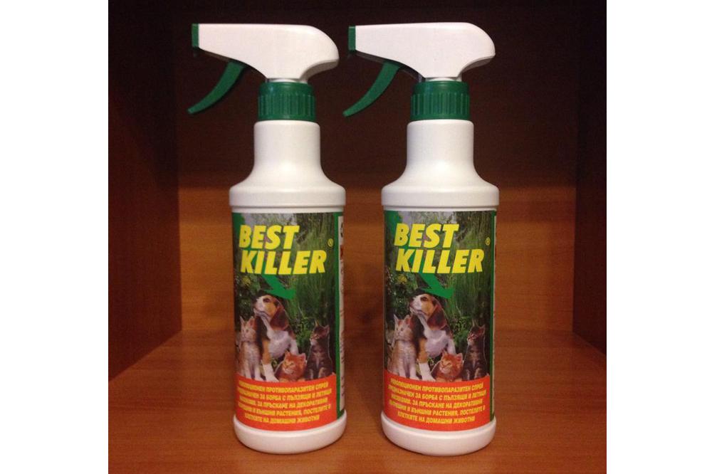 ЕСТ КИЛЪР - препарат за вредители като паяци, мравки, кърлежи, бълхи, дървеници, акари и др.