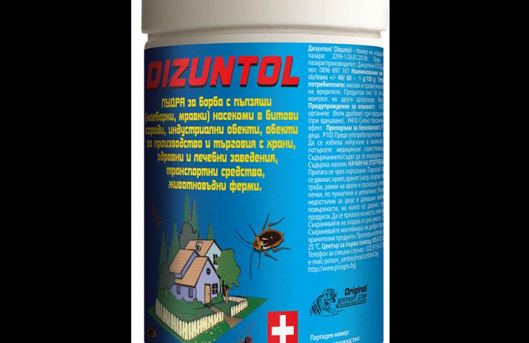 ДИЗУНТОЛ - препарат за борба срещу хлебарки, кърлежи, бълхи, дървеници, акари и др.